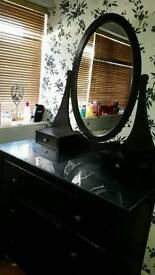 Ikea HAMNES dressing table with oval mirror.