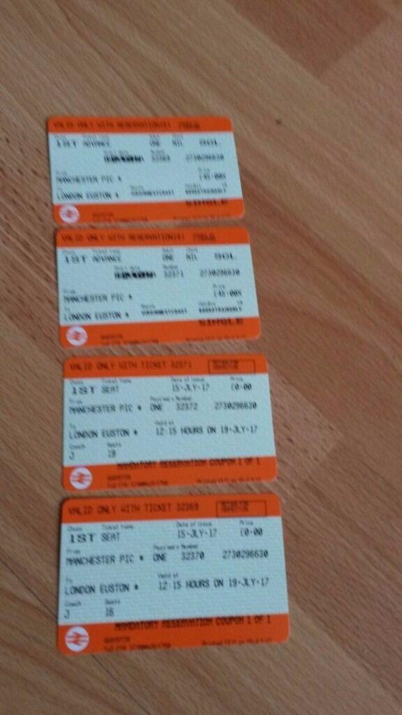 Manchester To London Euston First Class Virgin Train