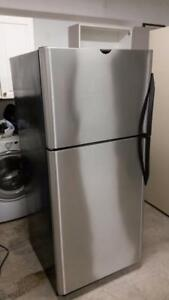 Frigidaire refrigerator double door stainless steel, 60 days warranty and free delivery