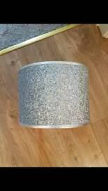 Silver glitter light shade