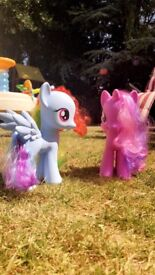My little pony, rainbow dash and twilight sparkle horses.
