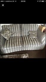 Stunning 3 Seater Sofa, 2 matching cushions and matching arm chair