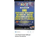 Let's Rock Exeter Tickets 30/06/18 Powderham