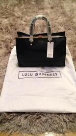 Lulu Guinness medium Daphne Black Smooth Handbag