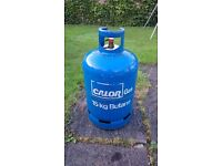 15kg Butane gas bottle with approximately 12.5kg of butane gas
