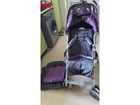 Maclaren turbo xlr in purple/grey