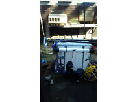Nearly new reach and wash pole system 500 litre tank and brushes and reels £1800 ono