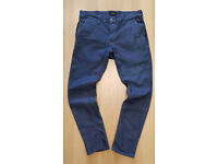 "MENS POLICE SIGNATURE BRANDED ELAPSE SLIM STRETCH DESIGNER DENIM JEANS 34""W-28""L"