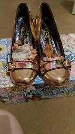 Irregular Choice rose gold heels