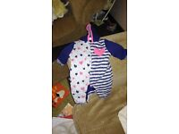 Girls baby grows & boys snow suit