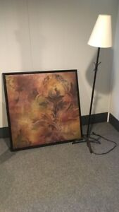BUNDLE STANDING LAMP & LARGE PICTURE