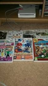 Nintendo Wii console plus 2 controllers and games