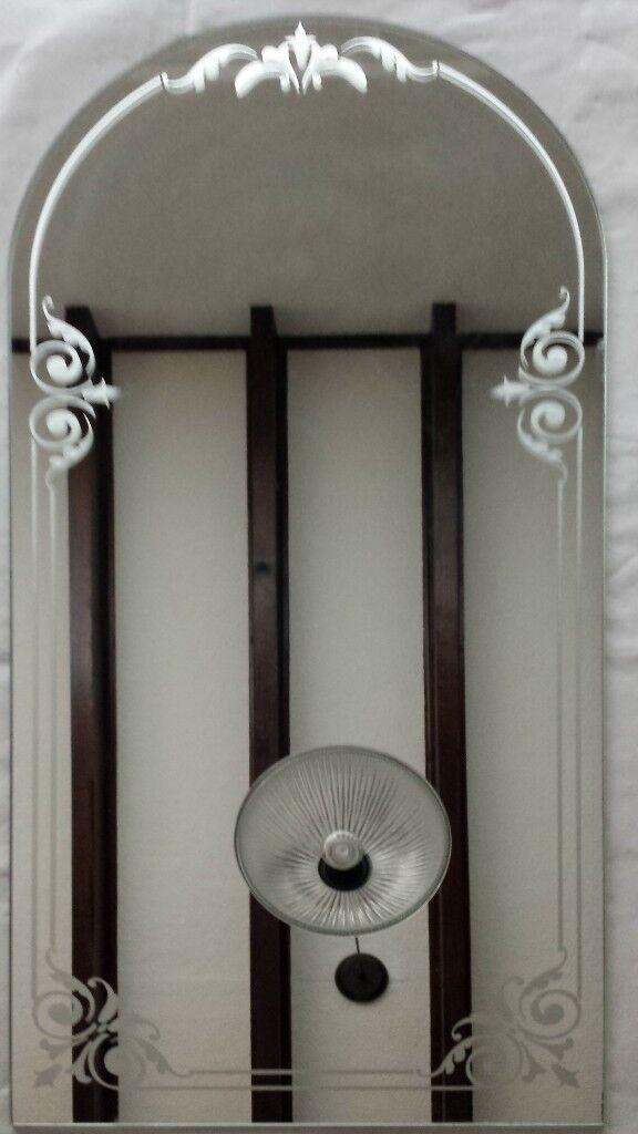 Mirror 355mm wide x max 750mm high - half-round top