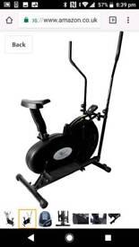 Crosstrainer exercise bike