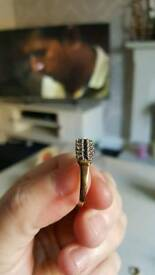 Sapphire and diamond ring size. N . very good condition