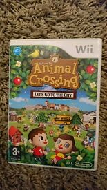 Wii Animal crossing: let's go to the city.