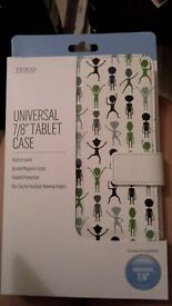 "UNIVERSAL 7/8"" TABLET MAGNETIC CLASP NON SLIP MULTIPLE ALIENS CASE NEW"