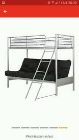 High sleeper bunk bed with futon