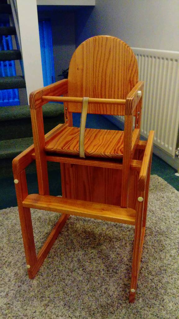 Lovely wooden combination highchair / children's chair and table