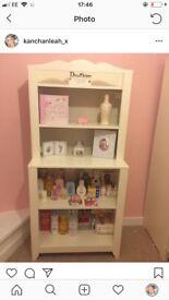 White children's wardrobe and display unit