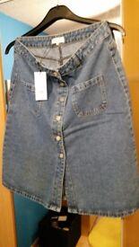 BRAND NEW Ladies Denim Skirt, Size 12