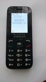 Alcatel 1016 Mobile Phone Unlocked all networks, + charger, good condition, WHITE / BLACK