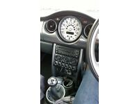 blue mini cooper in reall good condition has a done 76000 miles just passed mot