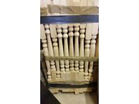 new pine 'colonial' style spindles for staircase -