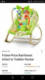 Fisher price baby to toddler vibrating bouncer chair