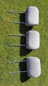 Mercedes W124 grey cloth headrests