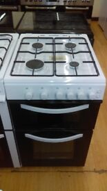 Gas cooker 50Cm black doors new Ex Display