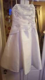 Ivory brides maids dress aged 8