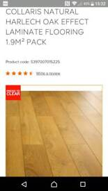 B&Q colours collaris Harlech oak laminate flooring