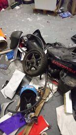 Assorted motor bike parts