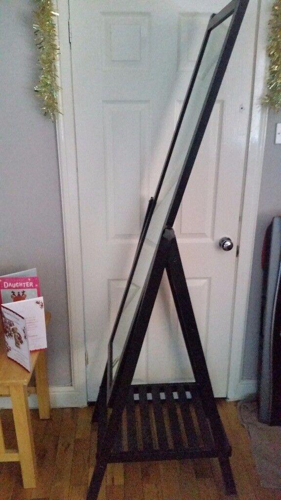 Black Ikea Isf Jorden tilting mirror