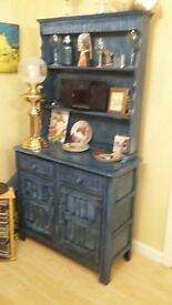BLUE PAINTED DRESSER, good condition, selling as bying a new one with glass doors.