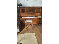 Beautiful H.Hansen piano & stool. Free to a good home, buyer to arrange collection.