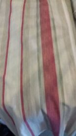 LAURA ASHLEY STRIPED CURTAINS LIVING ROOM