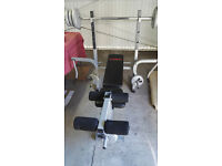 York Fitness Foldable Bench Complete with Dumbbells Bar And Leg Weights