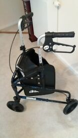 DRIVE 3 wheeler rollator walking frame. BRAND NEW