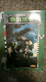 Orks Codex for Warhammer 40000