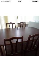 """Mahogany """"Excellent Condition """" Table & 4 Chairs"""
