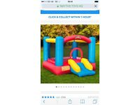 Bouncy castle with slide almost new