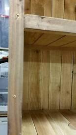 Rustic pine shelf unit / book case
