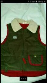 Child's gilet.18m - 2 years.as new.