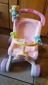 Girl's first pushchair