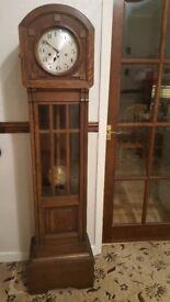 Antique Oak Grandmother Clock / Longcase Clock c.1910, excellent condition