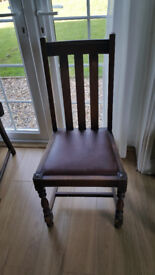 dining chairs Oak 1940s