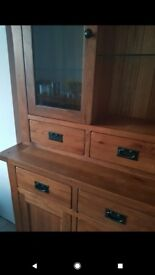 Sideboard and glass unit