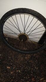 """MTB wheelset 26"""" complete with tyres."""